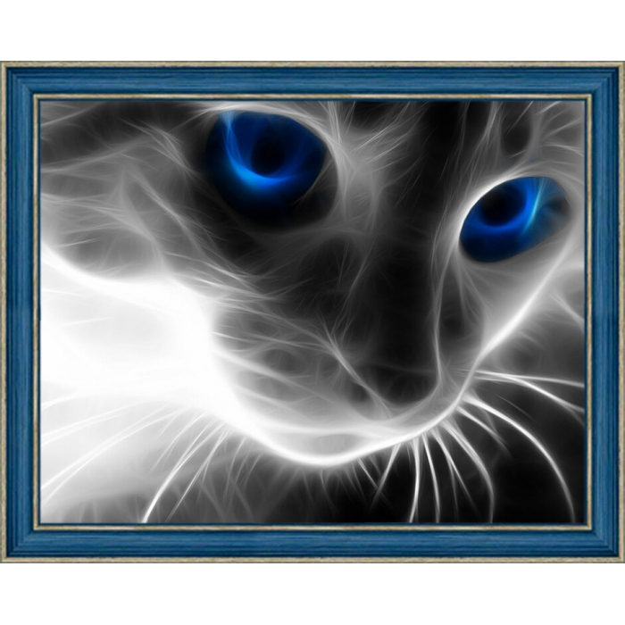 Набор для изготовления картин АЛМАЗНАЯ ЖИВОПИСЬ арт.АЖ.1232 Кошачий взгляд 30х40см