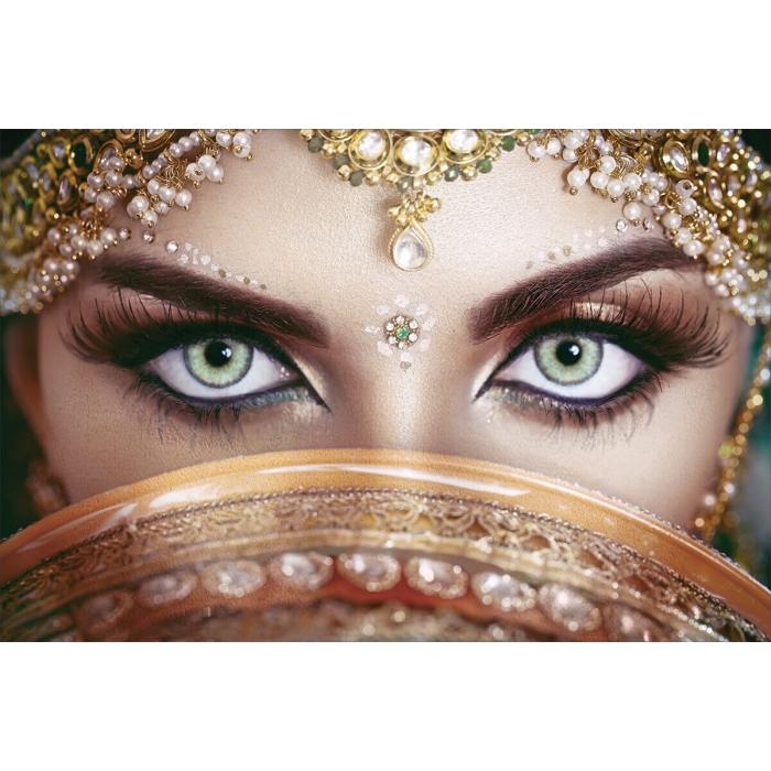 Алмазная вышивка Восточные глаза LMC016 50х65 тм Цветной