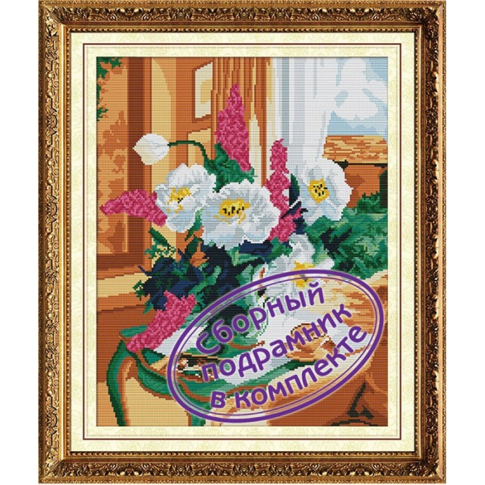 Набор Колор Кит мозаичная картина арт.КК.MO022 Нежный букет 40х50
