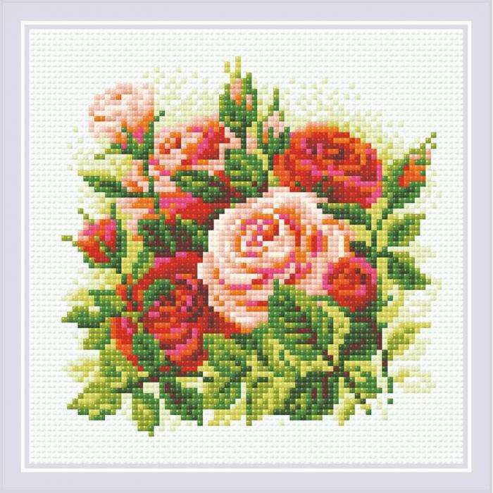 Набор РИОЛИС мозаичная картина арт.АМ0061 Розы 20х20 см