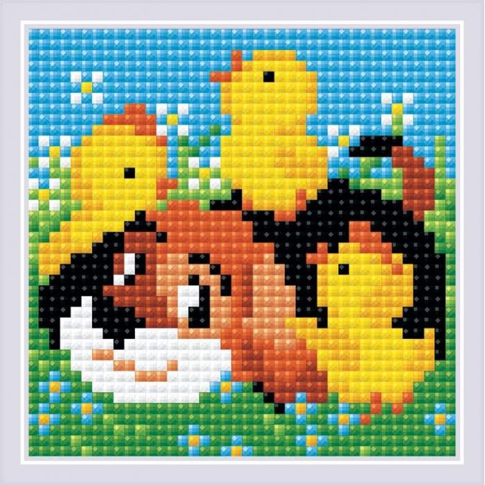 Набор РИОЛИС мозаичная картина арт.AM0035 Дружок 10х10 см