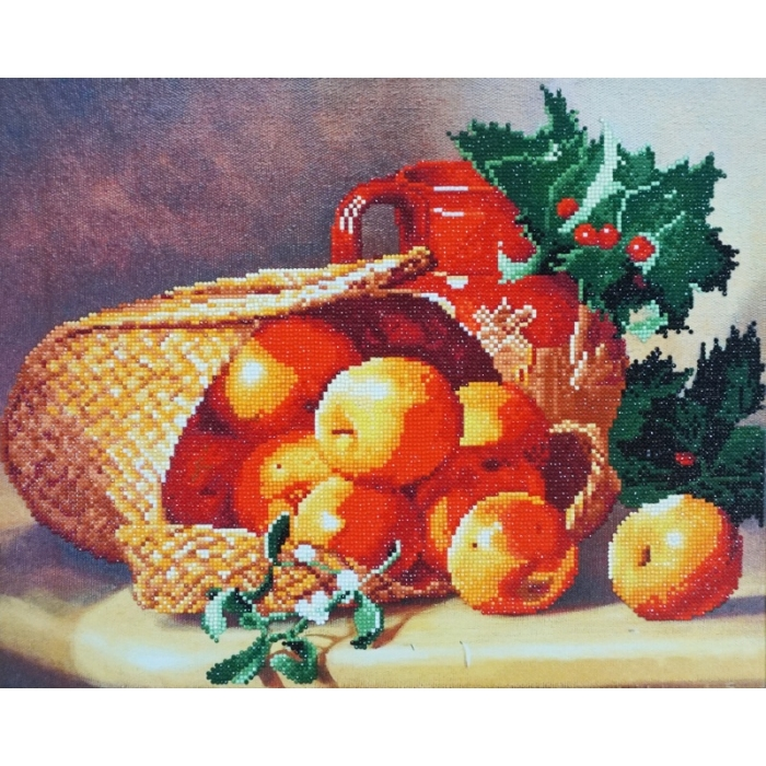 Набор Колор Кит картина алмазная арт.КК.KU004 Лукошко с яблоками 40х50