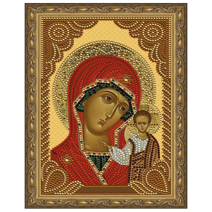 Картина 5D мозаика с нанесенной рамкой Molly арт.KM0799 Казанская Божия Матерь (11 цветов) 20х30 см