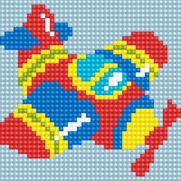 Алмазная мозаика Ah5220 Самолетик 10х10