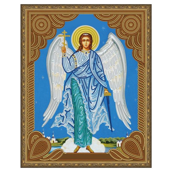 Картина 5D мозаика с нанесенной рамкой Molly арт.KM0715 Ангел Хранитель (12 цветов) 40х50 см