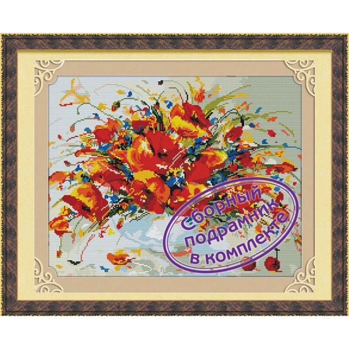Набор Колор Кит мозаичная картина арт.КК.MO030 Весенние маки 40х50