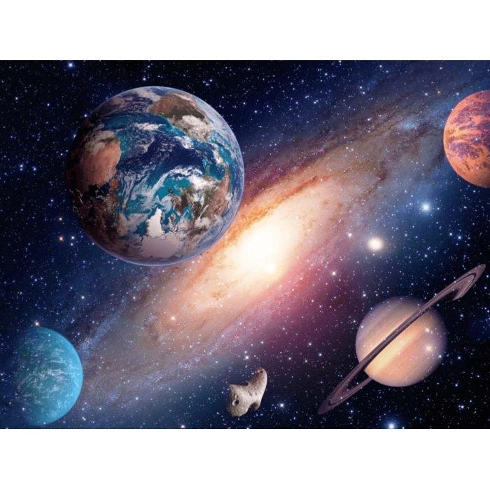 Алмазная мозаика Ah5228 Планеты в космосе 40х60