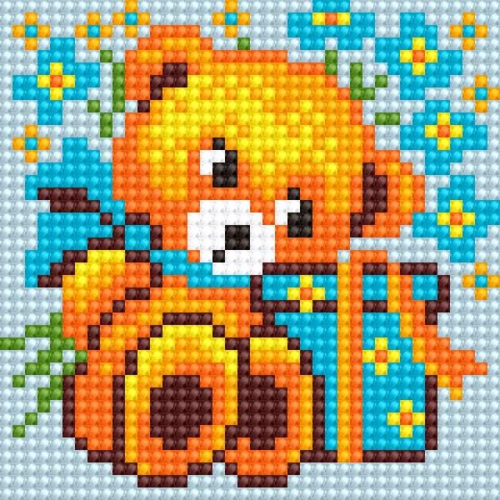 Алмазная мозаика Ah5196 Медвежонок 10х10