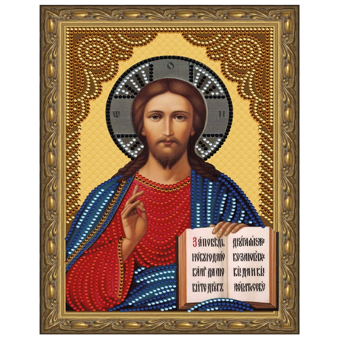 Картина 5D мозаика с нанесенной рамкой Molly арт.KM0801 Господь Вседержитель (8 цветов) 20х30 см