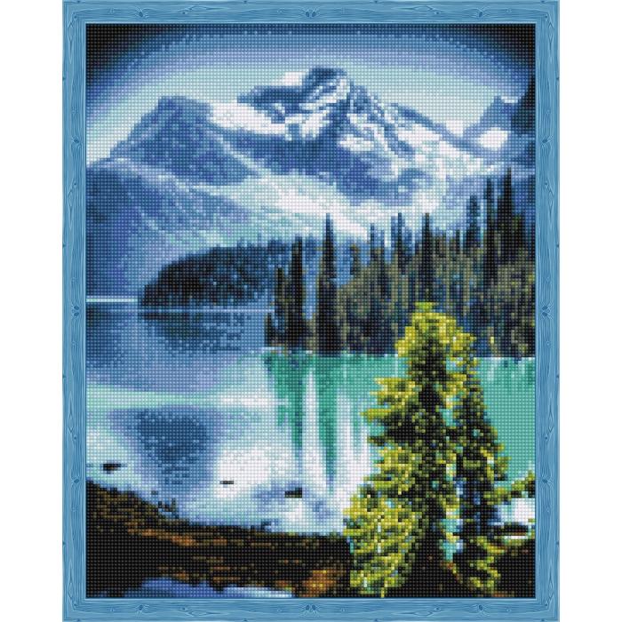 Алмазная вышивка Горное озеро QA202812 40х50 тм Цветной