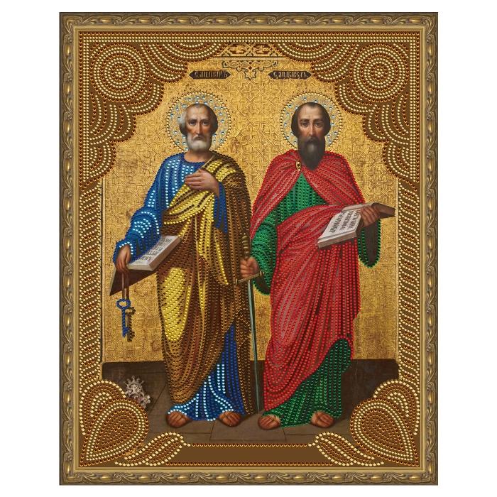 Картина 5D мозаика с нанесенной рамкой Molly арт.KM0796 Святые Апостолы Петр и Павел (13 цветов) 40х50 см