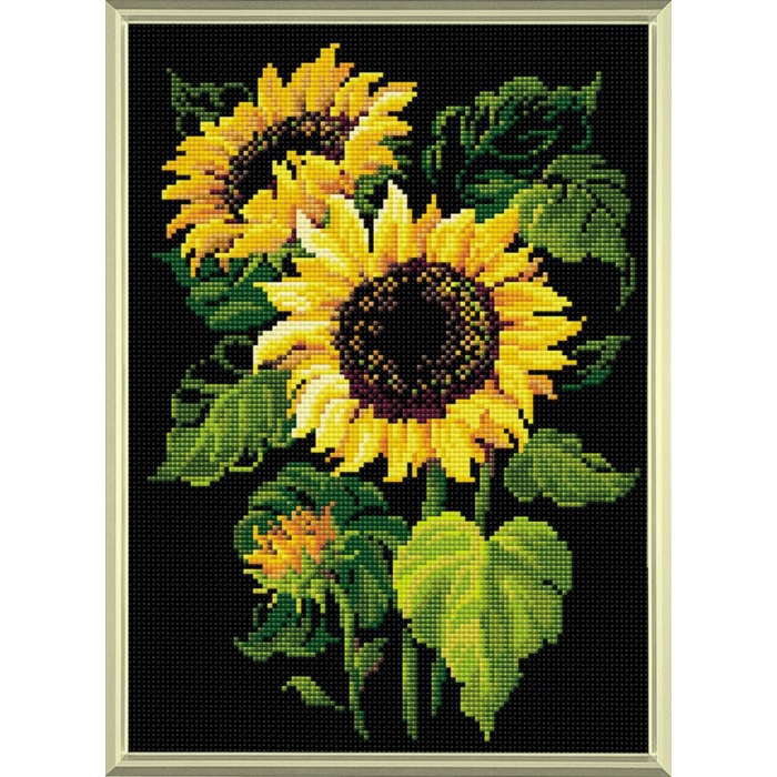 Набор РИОЛИС мозаичная картина арт.AM0006 Подсолнухи 27х38 см