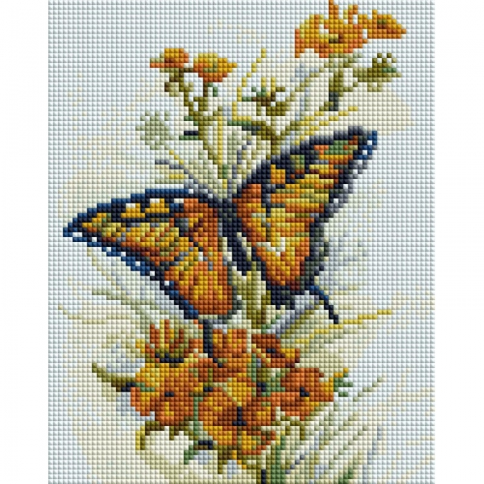 Набор Белоснежка для изготовления картин со стразами арт.БЛ.428-ST-PS Бабочка 20х25 см