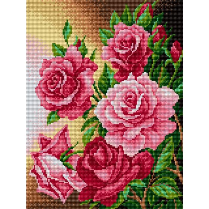 Набор для изготовления картин со стразами Вышиваем бисером арт.ВБ.V-26 Розы 30х40 см