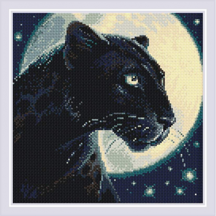 Набор РИОЛИС мозаичная картина арт.AM0045 Пантера 30х30 см