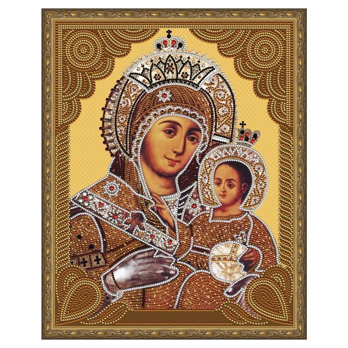 Картина 5D мозаика с нанесенной рамкой Molly арт.KM0718 Вифлеемская Божия Матерь (15 цветов) 40х50 см