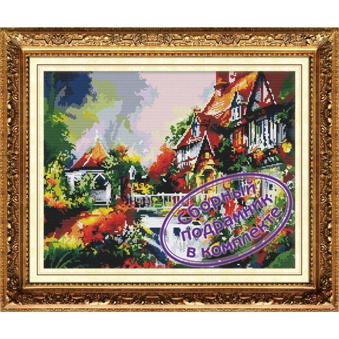 Набор Колор Кит мозаичная картина арт.КК.MO034 Фонтан у дома 40х50