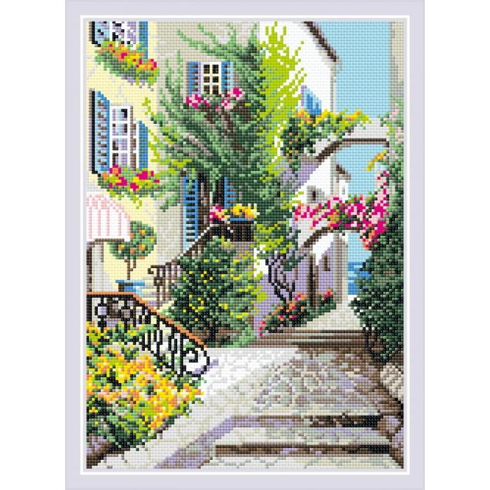 Набор РИОЛИС мозаичная картина арт.AM0025 Итальянский дворик 27х38см