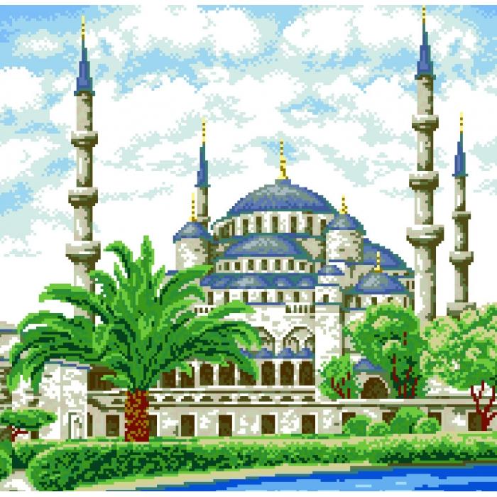 Набор для изготовления картин АЛМАЗНАЯ ЖИВОПИСЬ арт.АЖ.1004 Мечеть 47х46 см