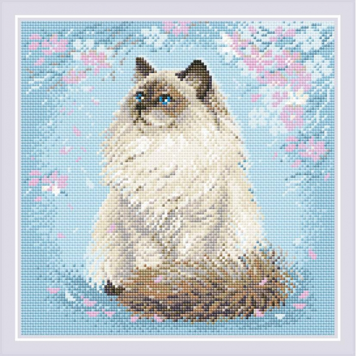 Набор РИОЛИС мозаичная картина арт.АМ0056 Мяу-дзен 30х30 см