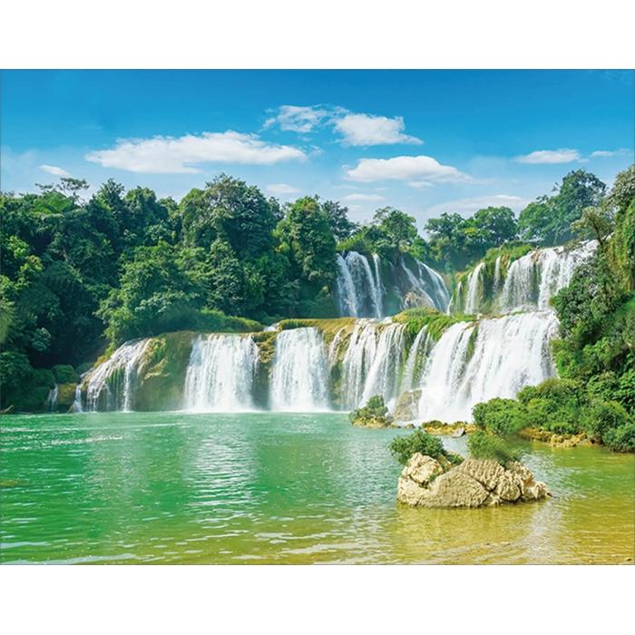 Алмазная вышивка Величественный водопад LG202 40х50 тм Цветной