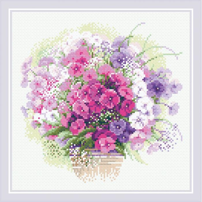 Набор РИОЛИС мозаичная картина арт.АМ0053 Акварельные флоксы 30х30 см