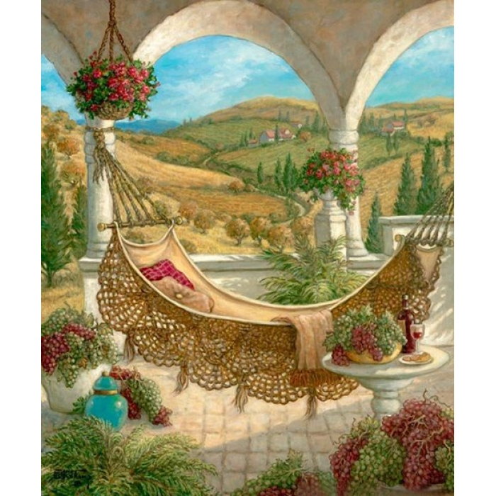 Набор для изготовления картин АЛМАЗНАЯ ЖИВОПИСЬ арт.АЖ.1149 Гамак 50х60 см