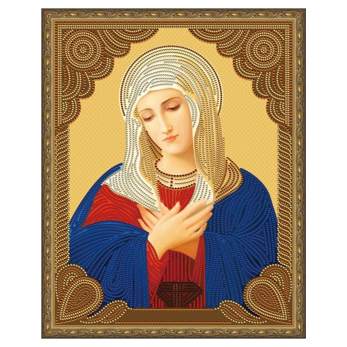 Картина 5D мозаика с нанесенной рамкой Molly арт.KM0719 Умиление (8 цветов) 40х50 см