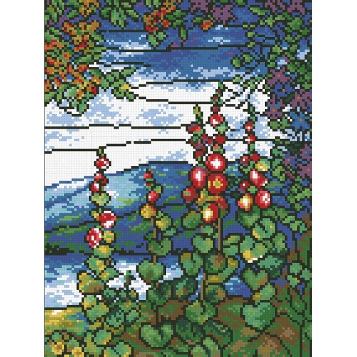 """Набор """"Паутинка"""" для изготовления картины со стразами арт.М434 Витраж Лето 25х35 см"""