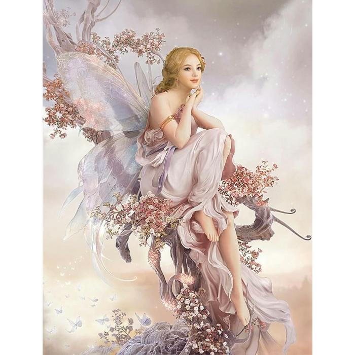 Алмазная мозаика Ah00671 Фея цветов 40х60