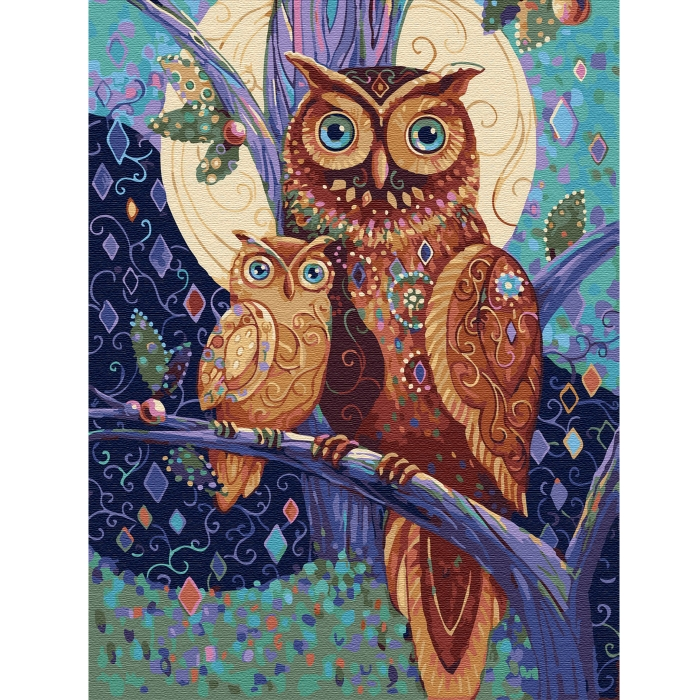Картина по номерам с цветной схемой на холсте Molly арт.KK0641 В гостях у сказки (21 цвет) 30х40 см