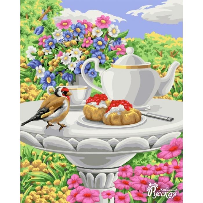 Картины по номерам Русская Живопись ФТ.B088 Чай в цветочном саду 40х50 см
