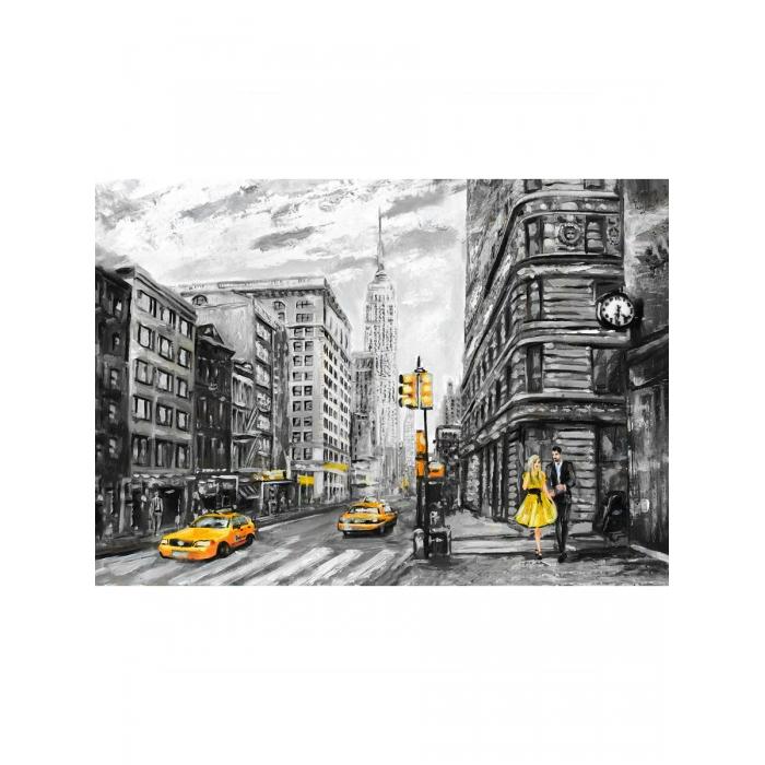 Картина по номерам с цветной схемой на холсте Molly арт.KK0680 Нью-Йорк 30х40 см