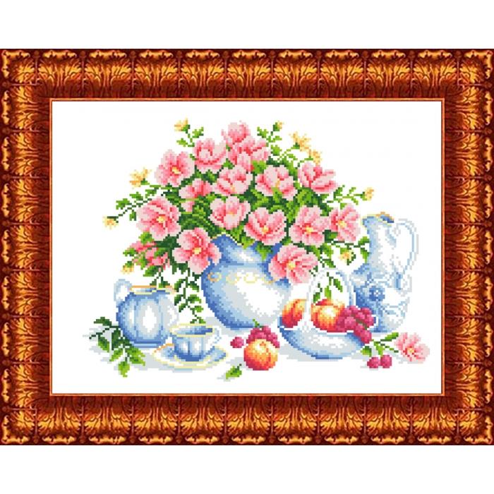 Канва с нанесенным рисунком КАРОЛИНКА арт. КК-048 Летнее утро 23х30 см