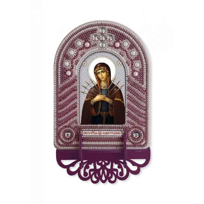 Набор для вышивания бисером НОВА СЛОБОДА арт.ВК1026 Богородица Семистрельная 10х13 см