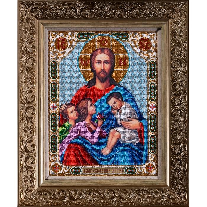 Набор для вышивания бисером КРОШЕ арт. В-197 Благословение детей 19х25 см