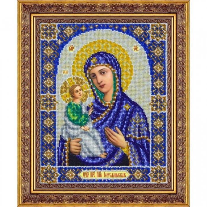 Набор для вышивания бисером ПАУТИНКА арт.Б-1049 Пр.Богородица Иерусалимская 20х25 см