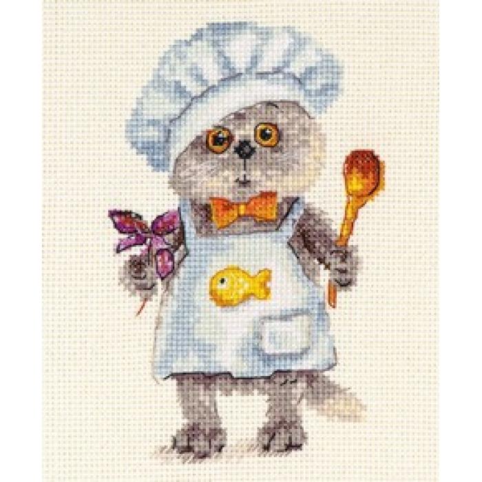 Набор для вышивания АЛИСА арт.0-182 Басик шеф-повар 10х14 см