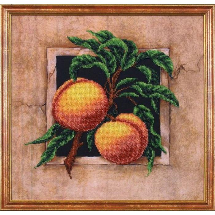 Набор для вышивания бисером МАГИЯ КАНВЫ арт.Б032 Персики 29,5х29,5 см