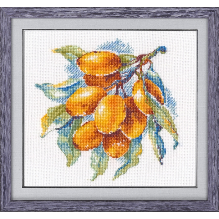 Набор для вышивания ОВЕН арт. 1091 Янтарная ягода 15х15 см