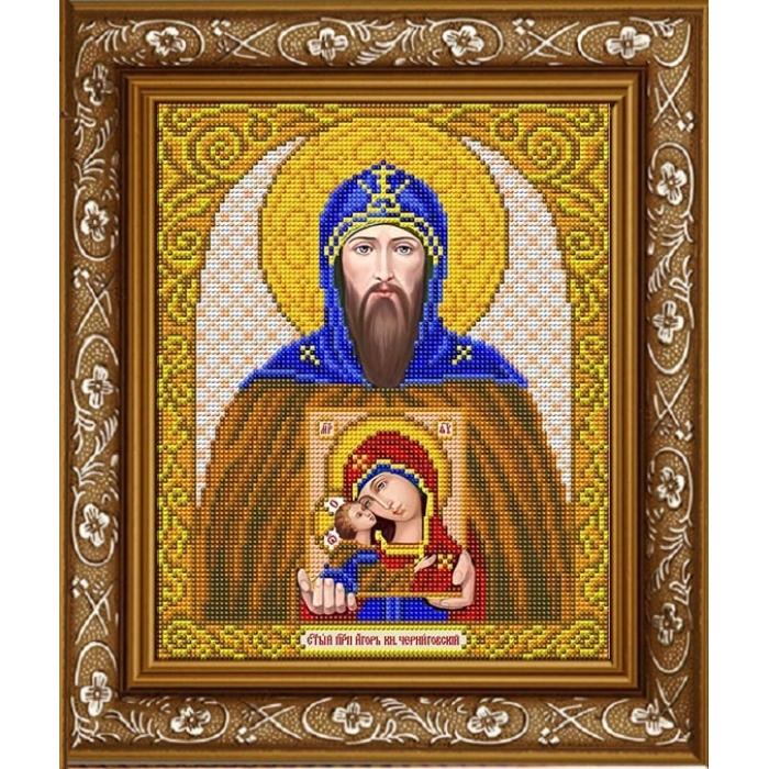 Рисунок на габардине СЛАВЯНОЧКА арт. ИС-4072 Святой Игорь 20х25 см