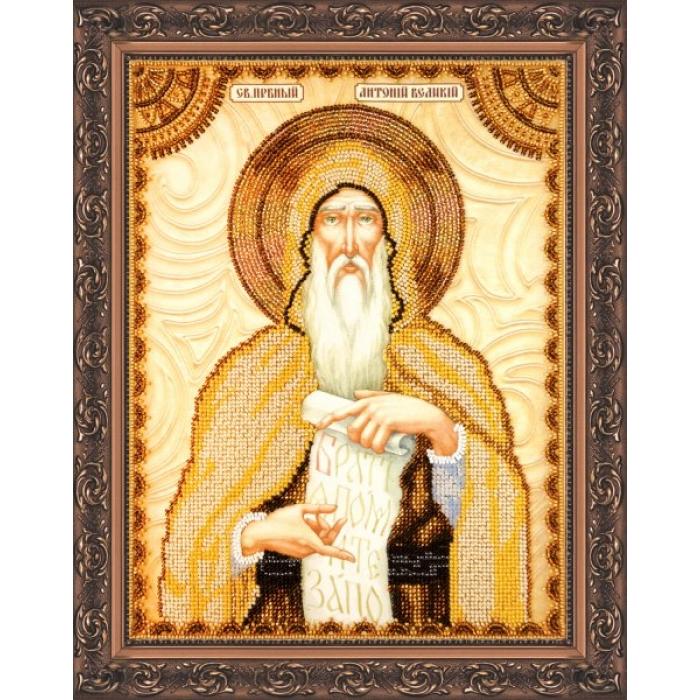 Набор для вышивания бисером АБРИС АРТ арт. AA-063 Св.Антоний 23х30 см