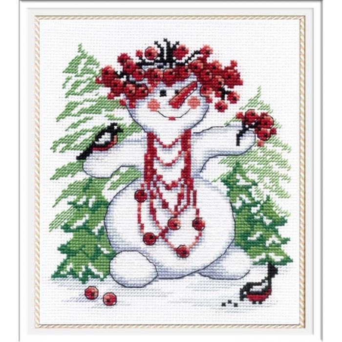 Набор для вышивания МП СТУДИЯ арт.НВ-257 Снежная баба 20х18 см