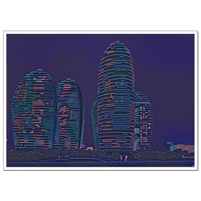 Набор для вышивания бисером НОВА СЛОБОДА арт.ДК1103 Небоскрёбы 54х38 см