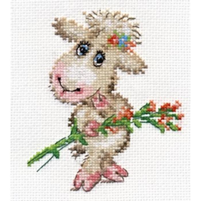 Набор для вышивания АЛИСА арт.0-105 Милая овечка 10х12 см
