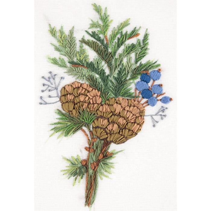 """Набор для вышивания PANNA """"Живая картина"""" арт. JK-2138 Обаяние зимы 11х16 см"""