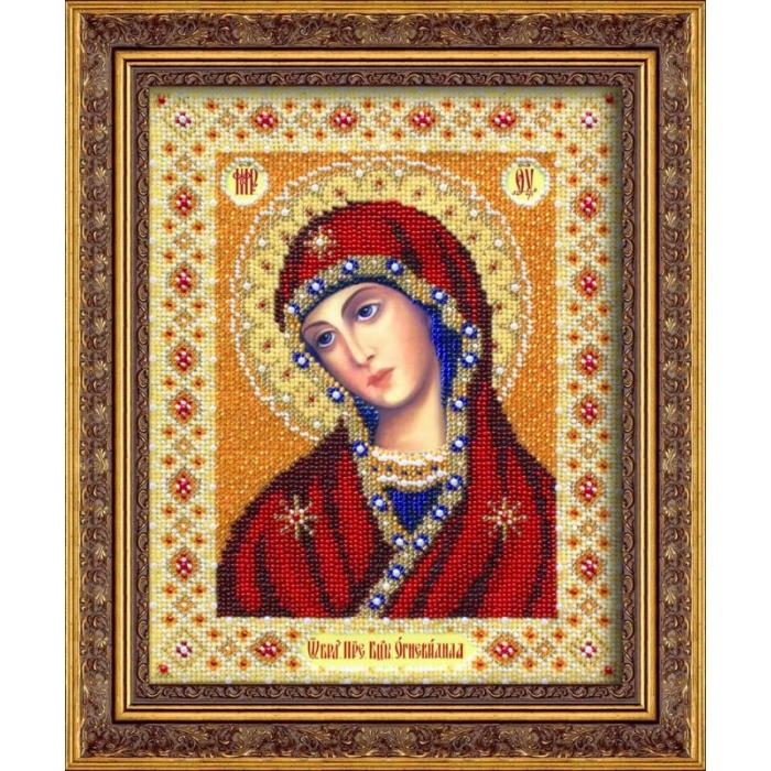 Набор для вышивания бисером ПАУТИНКА арт.Б-1025 Богородица Огневидная 20х25 см