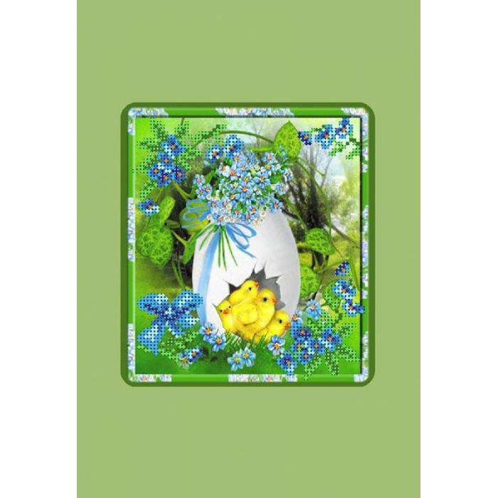 Набор для вышивания бисером с паспарту МАТРЕНИН ПОСАД арт.20,5х30,5 - 28/БП Пасхальная картинка 3