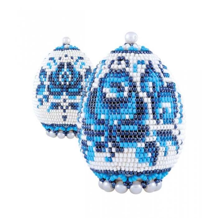 Набор для бисероплетения РИОЛИС арт.Б183 Яйцо пасхальное Гжель 6,5х5 см