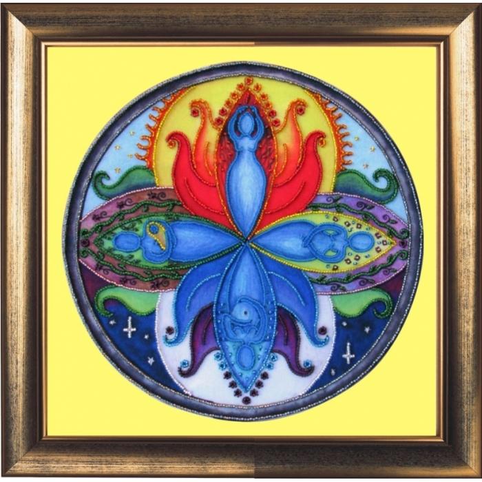 Набор для вышивания BUTTERFLY арт. 120 Богиня мандала 26х26 см